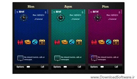 مجموعه ۳ تم جدید و بسیار زیبا برای نوکیا Symbian ^3