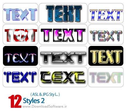 دانلود استایل فتوشاپ : افکت های مختلف – Styles 02