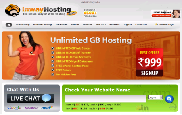 Inway Hosting Template RiP