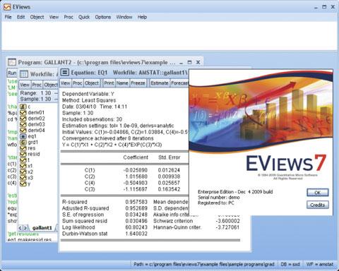 دانلود نرم افزار تحلیل و تخمین سیستم ها و مدل های اقتصادی   EViews Enterprise Edition 7.0.0.1