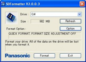 SD Formatter 300x217 نرم افزار SD Formatter برای فرمت کردن مموری کارت و USB Flash Memory