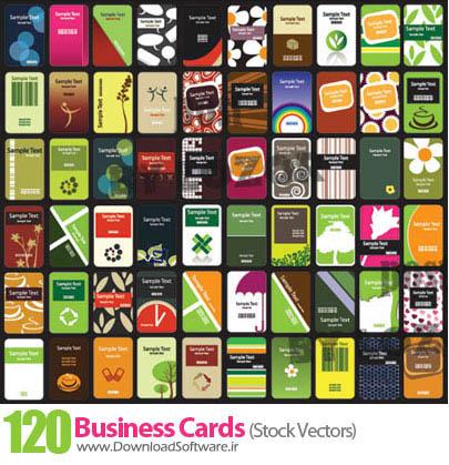 ۱۲۰ کارت ویزیت آماده بصورت وکتور ۱۲۰ business cards Stock Vectors