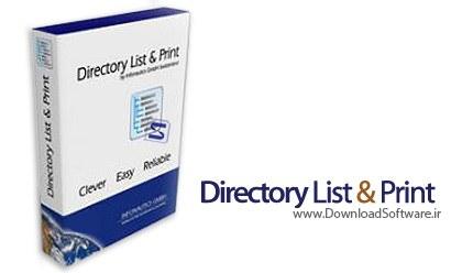 Directory List and Print Pro 3.31 – فهرست کردن و چاپ محتویات دایرکتوری