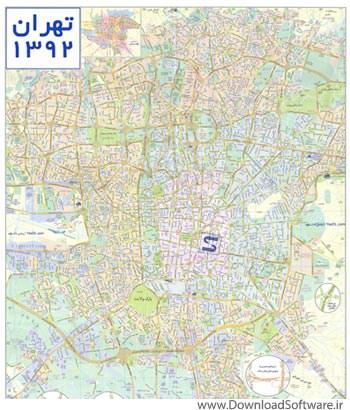 tehran map 1392