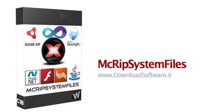 McRipSystemFiles 2.0.2014.01.29 Final مجموعه نرم افزارهای ویندوز