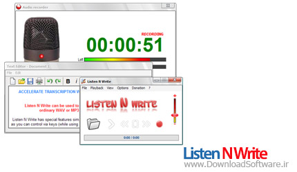 Listen N Write 1.14.0.2 + portable ضبط و پخش صدا در کامپیوتر