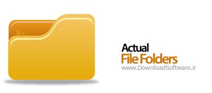 Actual File Folders 1.1.0 دسترسی سریع به پوشه ها در ویندوز