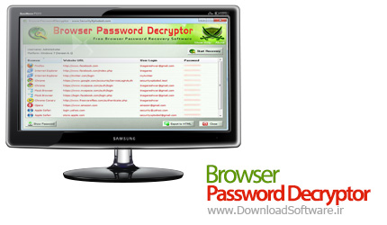 Browser Password Decryptor 9.0 بازیابی رمز عبور در مرورگر