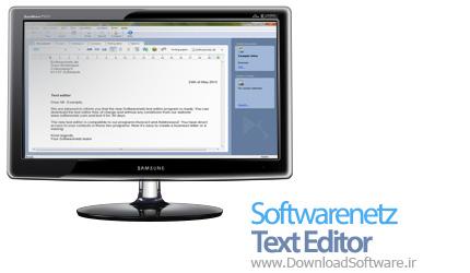 Softwarenetz Text Editor 1.18 ویرایشگر متن