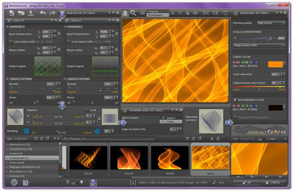 AbstractCurves 1 190 x86 x64ساخت تصاویر پس زمینه حرفه ای - 37
