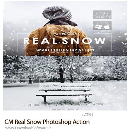 دانلود اکشن فتوشاپ ایجاد افکت برف بر روی تصاویر - CM Real Snow Photoshop Action
