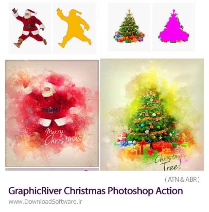 دانلود اکشن فتوشاپ ایجاد افکت فانتزی کریسمس بر روی تصاویر از گرافیک ریور - GraphicRiver Christmas Photoshop Action