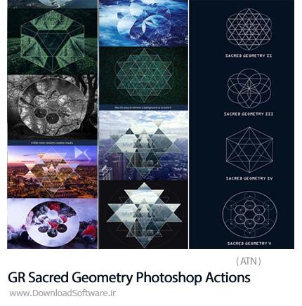 دانلود اکشن فتوشاپ ایجاد اشکال هندسی بر روی تصاویر از گرافیک ریور - GraphicRiver Sacred Geometry Photoshop Actions