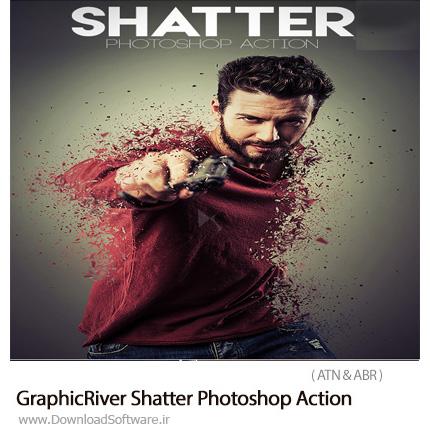 دانلود اکشن فتوشاپ ایجاد افکت ذرات خرد شده بر روی تصاویر از گرافیک ریور - GraphicRiver Shatter Photoshop Action