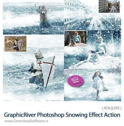 دانلود اکشن فتوشاپ ایجاد افکت زمستان بر روی تصاویر از گرافیک ریور - GraphicRiver Winter Is Coming Photoshop Snowing Effect Action