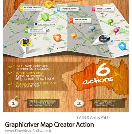 دانلود اکشن فتوشاپ ساخت نقشه از گرافیک ریور - Graphicriver Map Creator Action