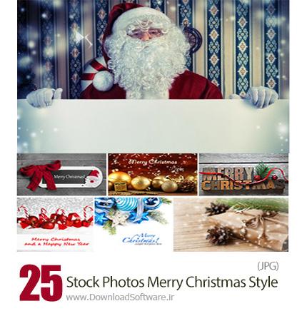دانلود تصاویر با کیفیت پس زمینه و عناصر تزئینی کریسمس - Stock Photos Merry Christmas Style
