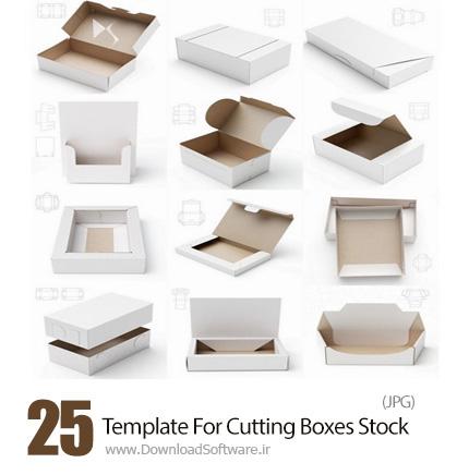 دانلود تصاویر با کیفیت قالب های آماده برش جعبه - Template For Cutting Boxes Stock Images