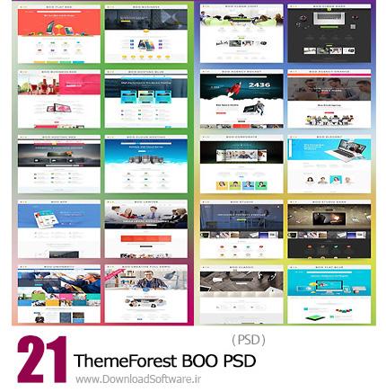 دانلود 21 تصویر لایه باز قالب صفحه اصلی وب سایت از ThemeForest - ThemeForest BOO PSD