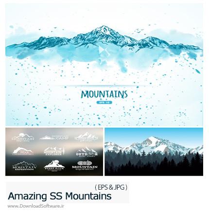 دانلود تصاویر وکتور کوه از شاتر استوک - Amazing ShutterStock Mountains