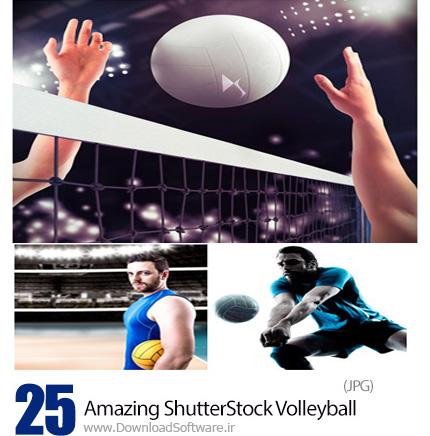 دانلود تصاویر با کیفیت والیبال، توپ و تور، والیبالیست از شاتر استوک - Amazing ShutterStock Volleyball