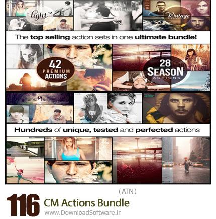 دانلود 116 اکشن فتوشاپ متنوع - CM 116 Actions Bundle