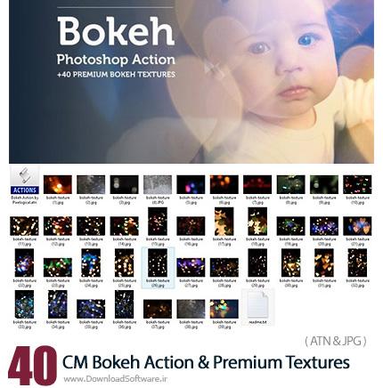 دانلود 40 اکشن و تکسچر فتوشاپ افکت بوکه - CM Bokeh Action And 40 Premium Textures