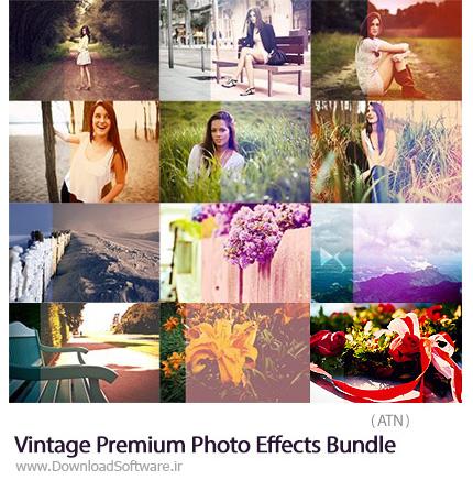 دانلود مجموعه اکشن فتوشاپ با افکت های متنوع قدیمی - CreativeMarket Vintage Premium Photo Effects Bundle