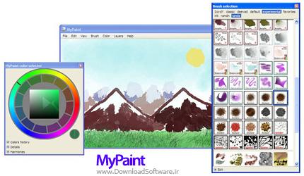 دانلود MyPaint نرم افزار نقاشی ساده