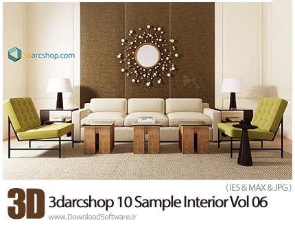 دانلود مدل های سه بعدی طراحی داخلی از 3darcshop - 3darcshop 10 Sample Interior Vol 06