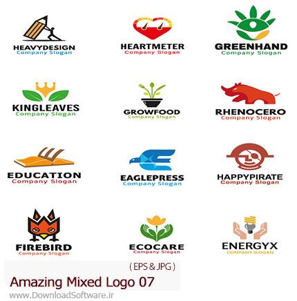 دانلود تصاویر وکتور آرم و لوگوهای مختلف شگفت انگیز - Amazing Mixed Logo 07