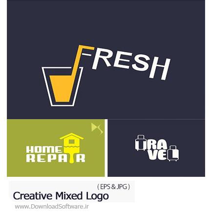 دانلود تصاویر وکتور آرم و لوگوی خلاقانه - Creative Mixed Logo
