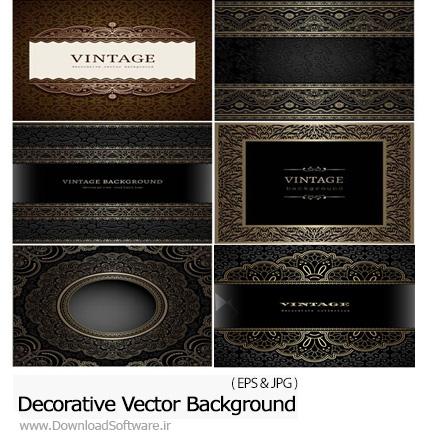 دانلود تصاویر وکتور پس زمینه های تزئینی با بافت قدیمی - Decorative Vector Background Vintage Patterns