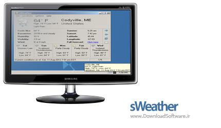 دانلود sWeather Portable نرم افزار نمایش وضعیت آب و هوا