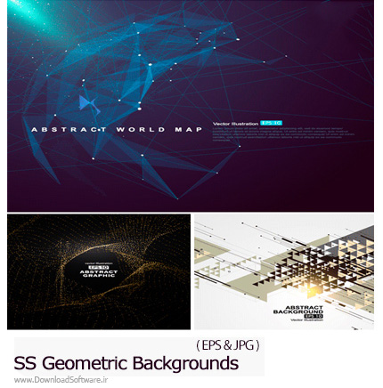 دانلود تصاویر وکتور پس زمینه های اشکال هندسی از شاتراستوک - Amazing ShutterStock Geometric Backgrounds
