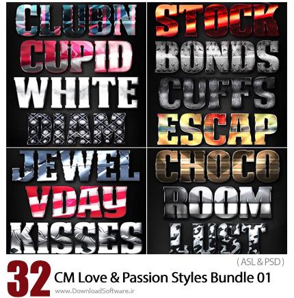 دانلود مجموعه تصاویر لایه بازاستایل با افکت های متنوع – CM Love And Passion Styles Bundle 01