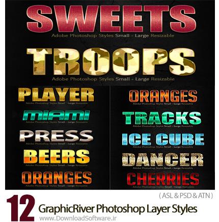 دانلود 12 تصویر لایه باز استایل با افکت های متنوع از گرافیک ریور - GraphicRiver 12 Photoshop Layer Styles