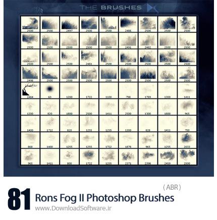 دانلود براش فتوشاپ مه - Rons Fog II Photoshop Brushes