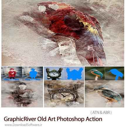 دانلود اکشن فتوشاپ ایجاد افکت قدیمیبر روی تصاویر از گرافیک ریور - GraphicRiver Old Art Photoshop Action
