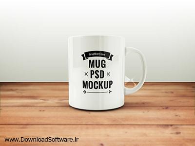 دانلود طرح لایه باز لیوان - Coffee Mug PSD
