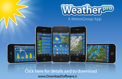 دانلود WeatherPro نرم افزار نمایش آب و هوا برای آیفون