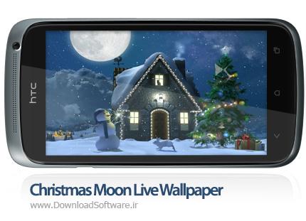 دانلود Christmas Moon Live Wallpaper والپیپر زنده کریسمس اندروید