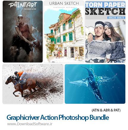 دانلود مجموعه اکشن فتوشاپ با افکت های فانتزی متنوع از گرافیک ریور - Graphicriver Action Photoshop Bundle 14