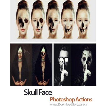 دانلود اکشن فتوشاپ Skull Face Photoshop Action