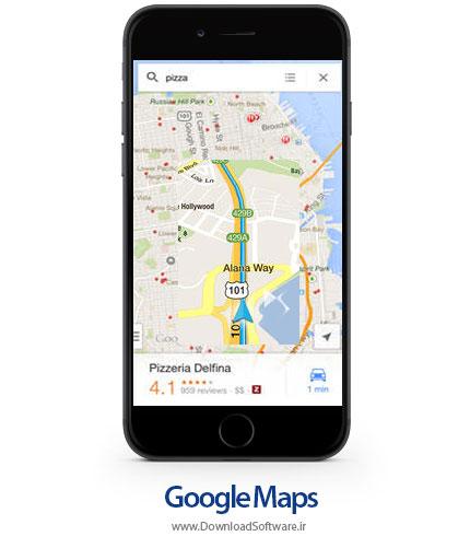 نقشه و مسیر یاب گوگل Google Maps – آیفون آیپد آیپاد