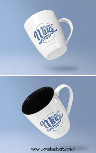 دانلود تصاویر موکاپ فنجان قهوه Coffee Mug Mockup