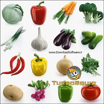 دانلود تصاویر سه بعدی میوه ها TurboSquid Collection of Vegetables