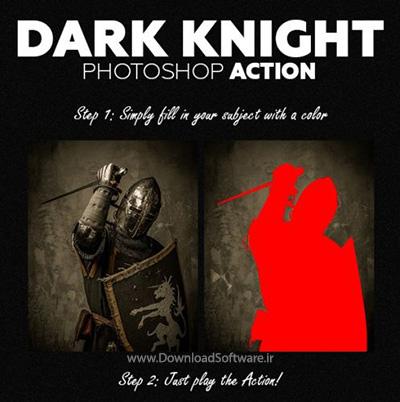 دانلود اکشن فتوشاپ Dark Knight Photoshop Action