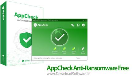 دانلود AppCheck Anti-Ransomware Free نرم افزار حذف ویروس های باج افزار