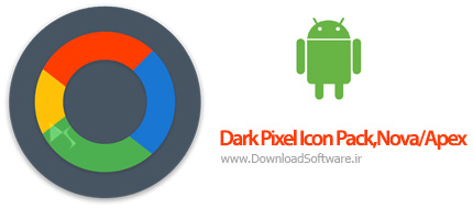 دانلود تم دارک پیکسل اندروید Dark Pixel Icon Pack,Nova/Apex